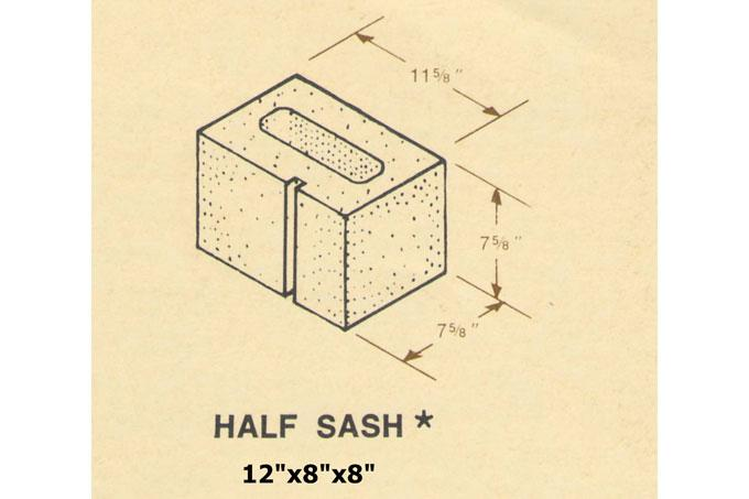 12 x 8 x 8 concrete block