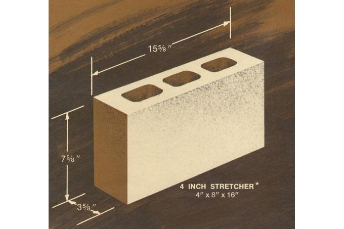 4 x 8 x 16 concrete block