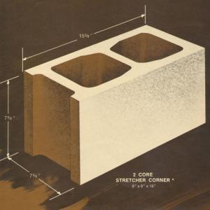 8 x 8 x 16 Concrete Block